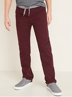 Relaxed Slim Rib-Knit Waist Built-In Flex Pants for Boys
