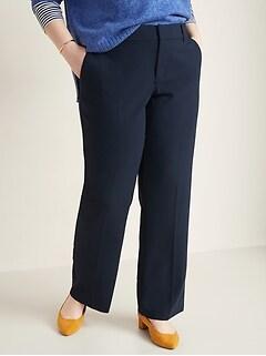 Mid-Rise Secret-Slim Pockets + Waistband Plus-Size Slim-Flare Pants