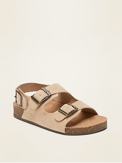Faux-Suede Double-Buckle Sandals for Toddler Boys
