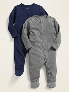 Unisex Footed One-Piece 2-Pack For Baby