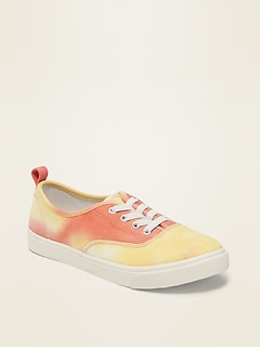 Twill Lace-Up Sneakers for Girls
