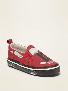 Car-Graphic Slip-On Sneakers for Toddler Boys