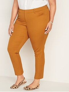 Mid-Rise Secret-Slim Pockets Plus-Size Pixie Pants