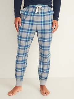 Patterned Flannel Pajama Joggers for Men
