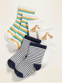 Plush Crew Socks 3-Pack for Baby