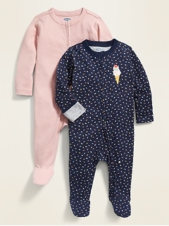 Footed One-Piece 2-Pack for Baby