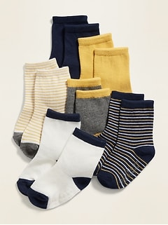 Unisex Crew Socks 6-Pack for Baby