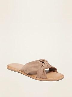 Sandales à enfiler avec noeud torsadé pour femme
