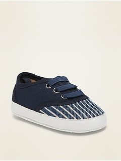 Striped Textured Slip-On Sneakers for Baby