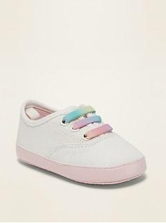 Chaussures à enfiler en sergé pour bébé
