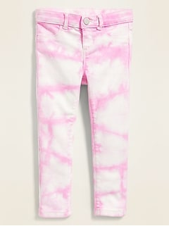Ballerina Built-In Tough Tie-Dye Jeggings for Toddler Girls