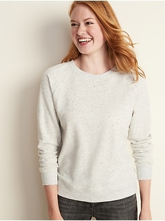 Relaxed Vintage Crew-Neck Sweatshirt for Women