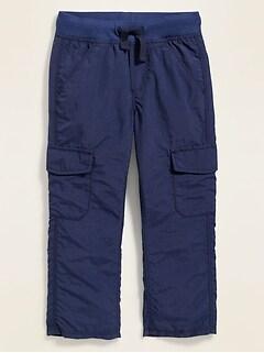 Pantalon cargo en nylon avec taille en tricot côtelé pour tout-petit garçon