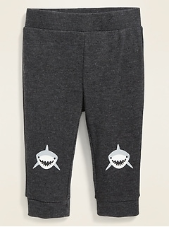 Shark-Graphic Jersey-Knit Pants for Baby