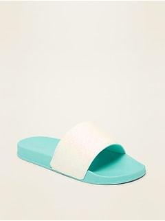 Glitter Pool Slide Sandals for Girls
