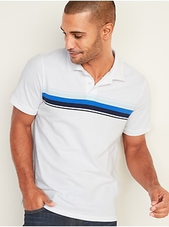 Moisture-Wicking Multi Chest-Stripe Pro Polo for Men