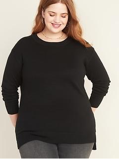 Plus-Size Crew-Neck Sweater