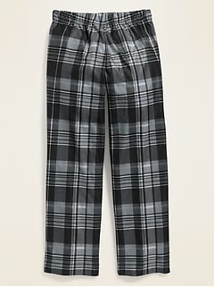 Patterned Micro Performance Fleece Pajama Pants for Boys