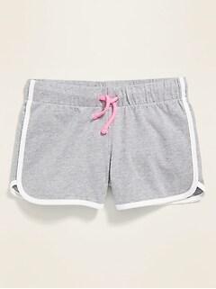 Jersey Dolphin-Hem Shorts for Girls