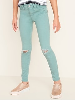 Ballerina Built-In Tough Pop-Color Jeggings for Girls