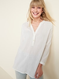 Lightweight Popover Tunic for Women
