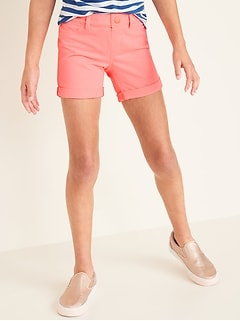 French Terry Pull-On Midi Shorts for Girls