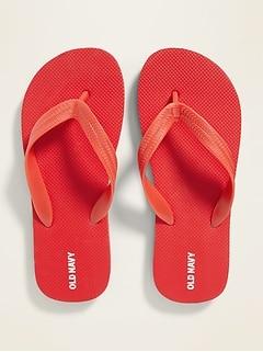 Solid-Color Flip-Flops for Boys