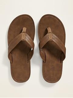 Sandales de plage en similicuir pour homme