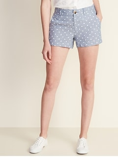 Mid-Rise Everyday Linen-Blend Shorts for Women - 3.5-inch inseam