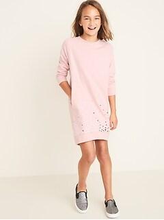 French Terry Sweatshirt Dress for Girls