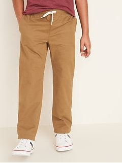 Elasticized Waist Pull-On Twill Pants for Boys