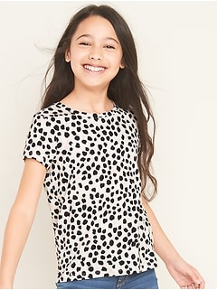 Softest Leopard-Print Tee for Girls