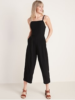 Square-Neck Cami Jumpsuit for Women