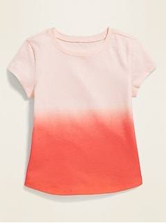 Printed Scoop-Neck Tee for Toddler Girls