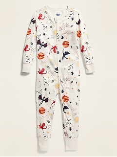 Dragon-Print Pajama One-Piece for Toddler & Baby