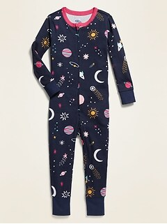 Space-Print Pajama One-Piece for Toddler & Baby