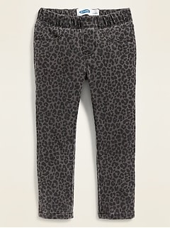 Leopard-Print Pull-On Jeggings for Toddler Girls