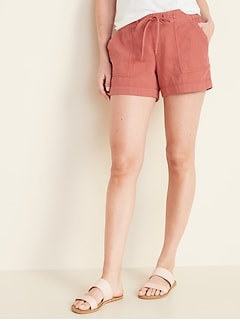 Relaxed Mid-Rise Soft Shorts for Women - 4-inch inseam