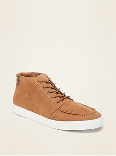 Faux-Suede Mid-Top Moccasins for Men