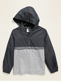 Hooded 1/2-Zip Pullover Jacket for Boys