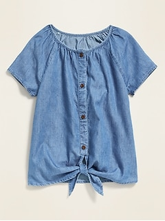 Tie-Front Top for Girls