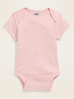 Unisex Short-Sleeve Bodysuit for Baby