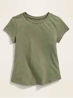 Fitted Scoop-Neck Tee for Toddler Girls