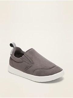 Chaussures à enfiler en faux suède léger pour tout-petit et bébé