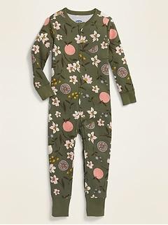 Pyjama une-pièce à fleurs pour tout-petit et bébé