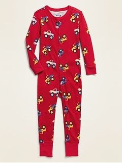 Monster Truck Pajama One-Piece for Toddler & Baby