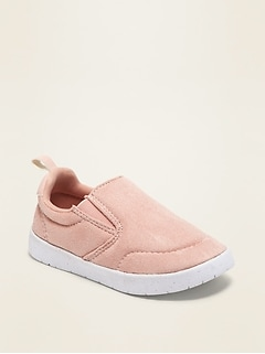 Lightweight Faux-Suede Slip-On Sneakers for Toddler Girls & Baby