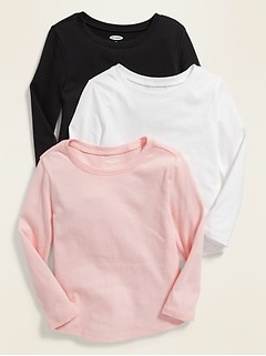 Unisex Long-Sleeve Tee 3-Pack for Toddler