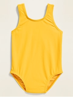 Neon-Color Swimsuit for Toddler Girls