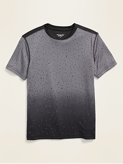 Go-Dry Printed Performance Tee for Boys